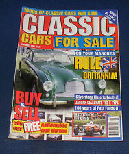 CLASSIC CARS FOR SALE NOVEMBER 2001 - JAGUAR CELEBRATES THE E-TYPE