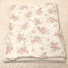 Pottery Barn Kids Faux Fur Shabby Chic Floral Throw Blanket