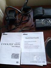Nikon S570 Coolpix Digital Camera 12 Pixels Black 5x Zoom