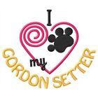 I Heart My Gordon Setter Ladies Short-Sleeved T-Shirt 1363-2 Size S - XXL