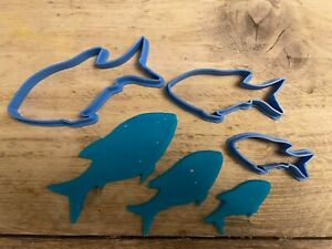 Fish Cookie Cutter, biscuit cutter, Set of 3, Marine, Sealife