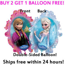 HUGE 2-Sided Frozen Elsa Anna Mylar Jumbo Balloon Birthday Party Supplies