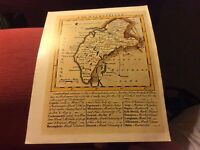 CUMBERLAND REPLICA OF MAP BY T JEFFREYS, 1749 ANTIQUE MAPS OF BRITAIN NO.104