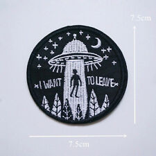 1PC Clothing Patch UFO Sew Iron On Embroidery Applique Badge Bag DIY Apparel