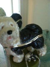Old English Sheep Dog Enamel Box & Matching Necklace #62671