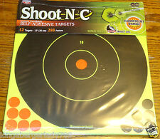"""12 12"""" SELF ADHESIVE TARGETS RIFLE SHOOTING GUN PISTOL RIFLE SHOOT N C 288 PASTE"""