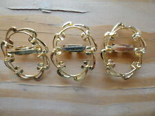 Bolo Slide hamilton gold plated holds an 22x30mm stone 0407 (pk 3) wave