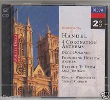HANDEL 4 CORONATION ANTHEMS DIXIT DOMINUS UTRECHT TE DEUM PRESTON 2 CD