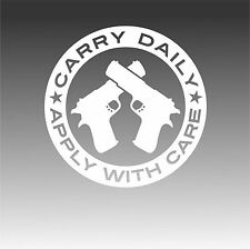 Conceal Carry Freedom Daily Gun Decal 2nd Amendment Right Bear Arms Sticker B