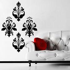 Wall Decal Damask Set Ornament Flower Petal Burgeon Curl vinyl M110