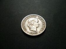 1907 - SWITZERLAND - 10 RAPPEN COIN - CONFOEDERATIO HELVETICA  - FOREIGN