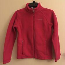 girls columbia Fleece jacket PINK Sz L (10- 12)