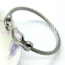 Shinny Twisted Silver Cable Chain Sparkle Lady's 316L Stainless Steel Bracelets