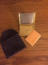 Vintage Makeup Compact, Unused Elgin American, St. Lawrence University, Engraved