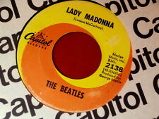 BEATLES~ LADY MADONNA~ NO TIME ON RECORD~MIS PRINT~ RARE~ CAPITOL~ POP 45