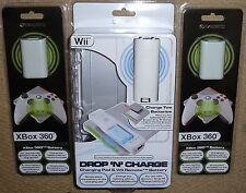 À Distance NINTENDO WII & XBOX 360 Wireless Induction Chargeur Batterie Kit Brand New!
