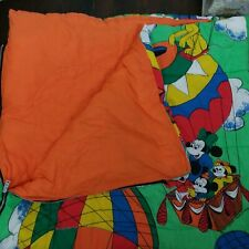 Vintage Disney Full Size Sleeping Bag-Quilted-Durable-Mickey Mouse-Adults-Kids