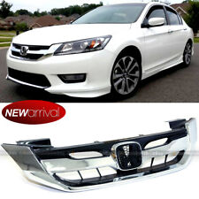 Fir 2013-15 9th Gen Honda Accord 4 Door Chrome Modulo Style Front Grille Grill