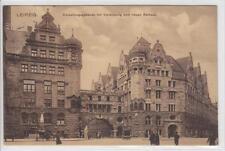 AK Leipzig, Verwaltungsgebäude mit neuem Rathaus, 1911