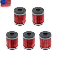 5pcs Oil Filter for Yamaha YZ250 XT250 YZ250F YZ450F YBR250 WR250F WR450F WR250X