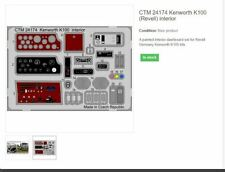 KENWORTH K100 REVELL  INTERIOR KIT   1/25 PHOTOETCHED