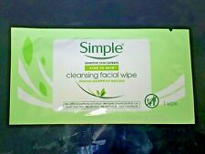 Simple KIND TO SKIN Cleansing Facial Wipes, Removes Waterproof Mascara 11 SAMPLE