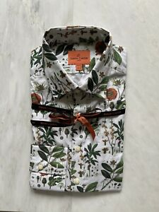 Simon Carter Men's Brand New Shirt, Botany Print, Roots And All. Size 16.5