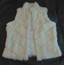 Arden B rabbit fur sleeveless white vest, size small