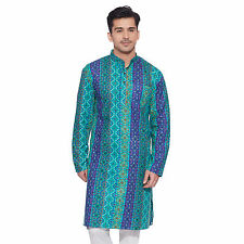 Men Full Sleeve Designer Indian Cotton Long Kurta Casual Wear Printed Kurta 1535