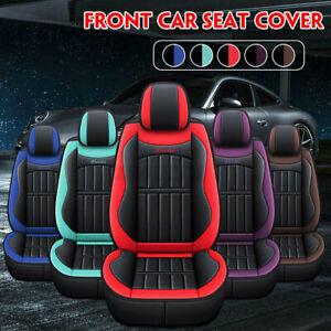 Universal PU Leather Car Auto Front Seat Cushion Pad Cover Non-slip Protect  *