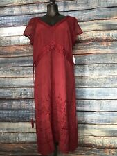 The Paragon Missy Medium Maroon Rayon lace Dress