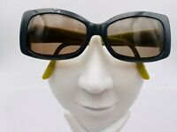 Vintage Swank Green Gray Oval Sunglasses FRAMES ONLY