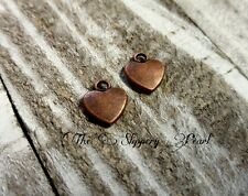 BULK Charms Heart Charms Antiqued Copper 50 pieces Wholesale Charms