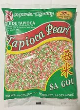 14oz JHC Tapioca Pearl Small Mix Colors White Pink Green Sa Gou from Thailand