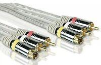 Philips 24k Gold 6ft S-Video & Stereo Audio Cables SWV3512W/17 - DVD/TV/SAT/RCVR