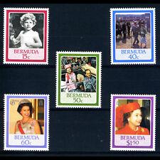 BERMUDA 1986 60th Birthday. SG 524-528. Mint Never Hinged. (AX484)
