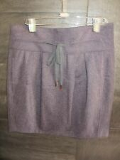 Brunello Cucinelli purple wool skirt size 44 New