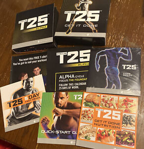 BeachBody Focus T25 Get It Done DVD Set Alpha + Beta Workout 9 Discs & More!