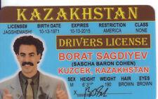 BORAT Sagdiyev Sascha Baron Cohen  Kuzcek KAZAKHSTAN Drivers License