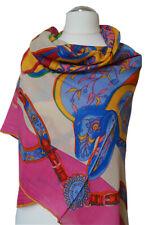Wunderschönes Damentuch aus Seide-Kaschmir-Wolle, 128x128cm, Handrolliert.