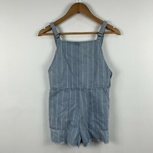 RVCA Womens Playsuit Romper Size XS AU 6 Denim Blue Striped Sleeveless 86.30
