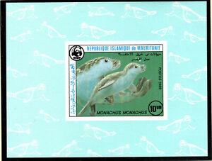 WWF  MAURETANIEN   Mi.Nr. 871-74 B, de luxe Blocks 1986