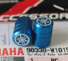 YAMAHA GENUINE WHEEL VALVE DUST CAP SET OF TWO BLUE  PLAIN FINISH