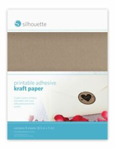 SILHOUETTE AMERICA Printable kraft sticker paper*Silhouette Cameo Silhouette Por