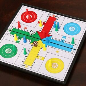 👇❤️💪🧠Magnetic Ludo Traditional Travel Board Brain Game 25 X 25 cm Parchis New