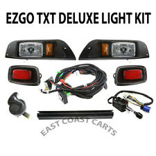 EZGO TXT Golf Cart DELUXE Street Legal Light Kit Plug & Go Lights (Free Shipping