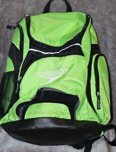 Swim Bag Speedo Large Teamster Backpack 35-Liter, Jasmine Green/Black