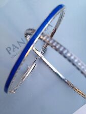 Authentic Pandora Blue Radiant Hearts Bangle 16- 17.5 - 19cm - 590537EN82