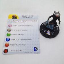 Heroclix Superman and Legion set Black Manta #038 Rare figure w/card!