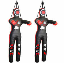 Brazilian Jiu Jitsu Grappling Straight Dummy Art Leather MMA Boxing Black/Red
